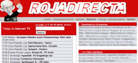 streaming calcio rojadirecta